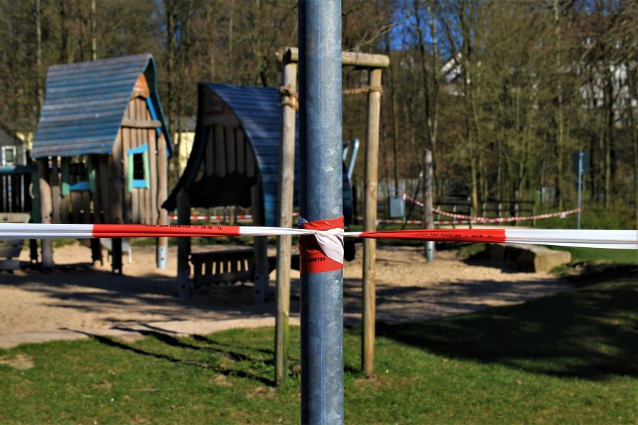 playground during the pandemic